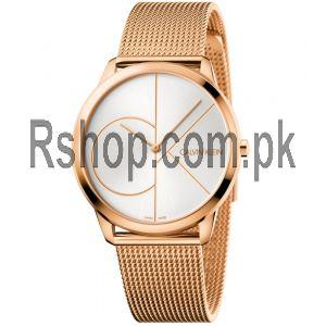 Calvin Klein Men 40MM Minimal Stainless Steel Mesh Bracelet Watch Price in Pakistan