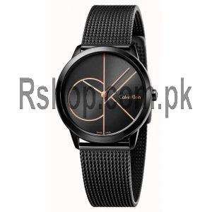 Calvin Klein Womans Minimal Black Mesh Watch Price in Pakistan